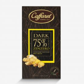 Dark: tavoletta extra-fondente 75% cacao e zenzero