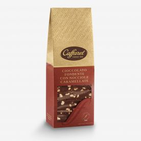 Le Creazioni: Fondente con granella di nocciole caramellate