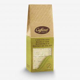 Le Creazioni: Bianco con granella di mandorle e pistacchi salati