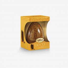Uovo di Pasqua fondente Decò ricoperto di cristalli di caramello salato