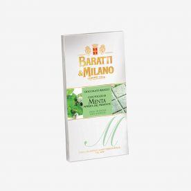 Tavoletta cioccolato bianco e foglie menta piperita Piemonte