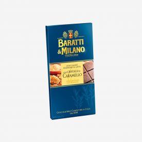 Tavoletta cioccolato al latte con granella di caramello